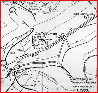 Karte vom 24. - 25.7.1916