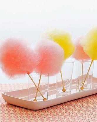 сладкая сахарная вата на детский день рождения ребенка