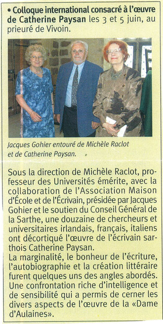premier colloque Catherine Paysan