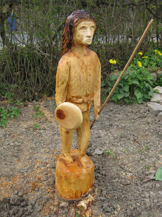 Indianner,Rest vom Apfelbaumstumpf