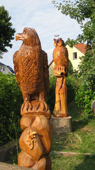 Adler aus Eiche 180 cm