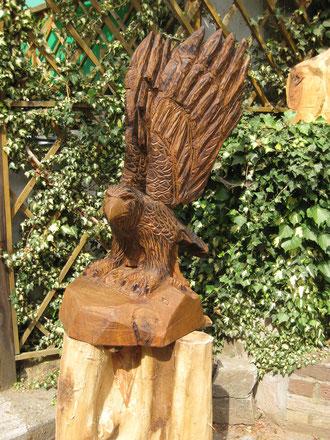 Adler aus Eiche(100cm)