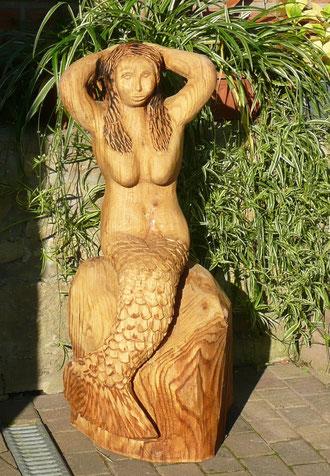 Meerjungfrau aus Eiche