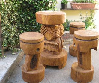 Sitzgruppe aus Eiche
