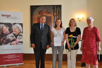 """Der 4. Platz ging an das Projekt """"Allein leben mit Demenz - Schulung in der Kommune"""""""