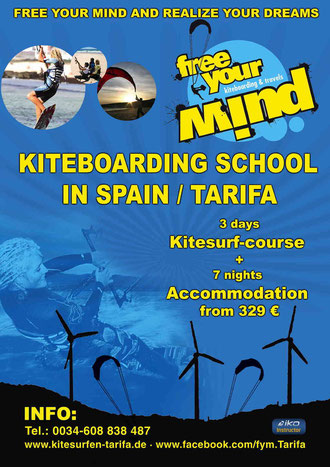 Kitesurfen lernen Urlaub in Tarifa