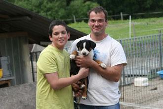 Unsere Bina mit dem neuen Besitzer