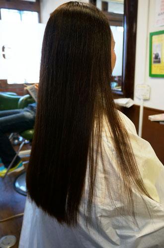 縮毛矯正+カラー