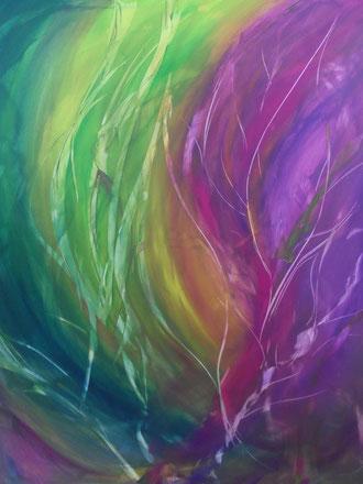 © 2012 Farbige Wasserwelt - Acryl auf Leinwand 80 x 100 verkauft