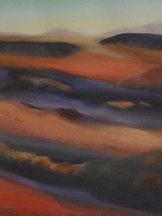 © 2012 Die Wüste lebt - Acryl auf Papier 30 x 40