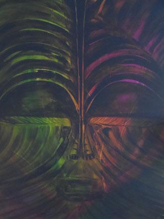 © 2013 Vergangenheit der Maori - Acryl auf Leinwand 80 x 100