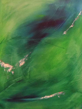 © 2014 Seele des Herzens / Wildes Grün -  Acryl auf Leinwand 60 x 70