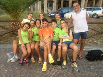 I juniores con il vincitore Ismail Adim
