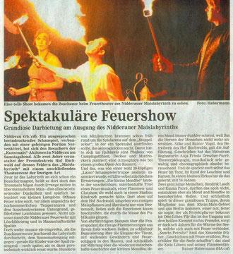 Hanauer Anzeiger, 11.09.2012