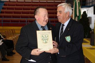 Albert BINGGELI Membre d'honneur et Michel TALON président