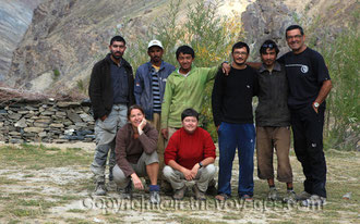 Jean-Claude with his friends and Ratna Voyages trekking staff