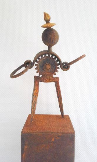 """""""JONGLEUR"""" (Material: Eisen, Höhe:0,60m, Breite:0,42m, Tiefe:0,19m, Preis:390€)"""