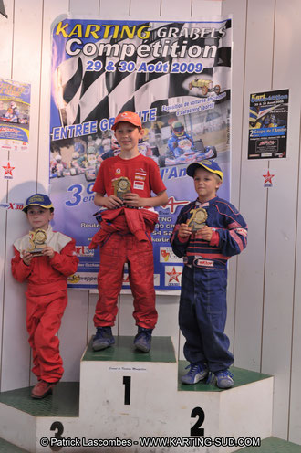 pilotes de karting mini kart