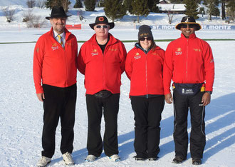 Officials at Cricket On Ice 2019