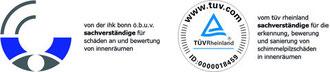 Sachverständige der IHK Bonn/Rhein-Sieg für Schäden an und Bewertung von Innenräumen sowie Sachverständige für die Erkennung, Bewertung und Sanierung von Schimmelpilzschäden in Innenräumen (TÜV Rheinl