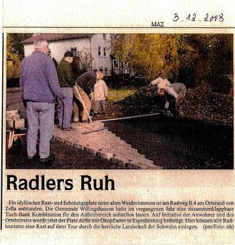 """Eigenleistung """"Radlers Ruh"""""""