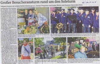 Volksstimme Schönebeck vom 13. Oktober 2015 (Ulrich Meinhard)