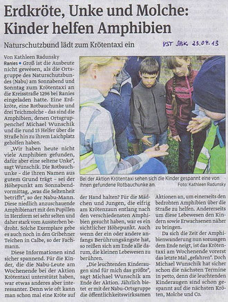 Volksstimme Schönebeck vom 23. April 2013 (Kathleen Radunsky)