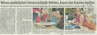 Volksstimme Schönebeck vom 24. August 2015 (Heike Heinrich)