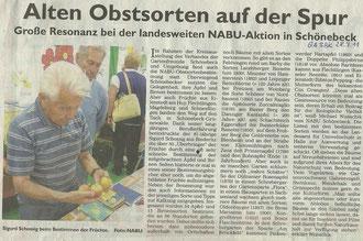 Generalanzeiger Schönebeck vom 28. September 2011