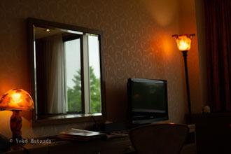 高原のホテルにて