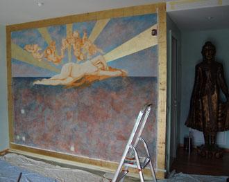 fresque murale pour une chambre(locarno-Suisse)