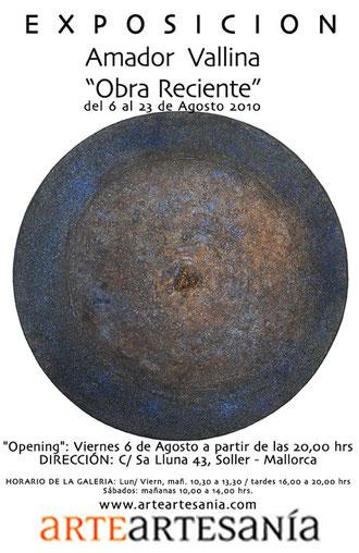 Obra Reciente de Amador Vallina en la Galería ArteArtesanía, Sóller, Mallorca