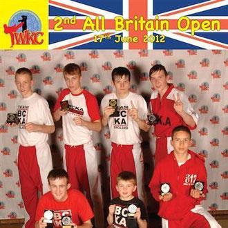 BCKA boys...(top L-R - Jack Etches, Daniel Laing, Jack Bristowe, Kieren Wilson.  Bottom L-R - Lewis Gemmill, Declan Etches, Nikolai Milanov
