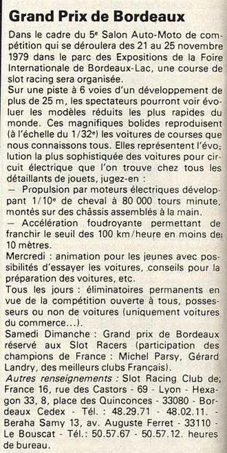 Dans la presse: ECHAPPEMENT n° 133 page 12.