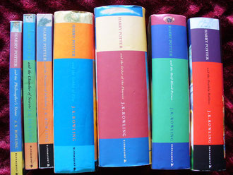 My complete Harry Potter set - always kept in chronological order. Fussy, me?
