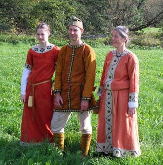 v.l.n.r: Adela, Radulf und Plektrud