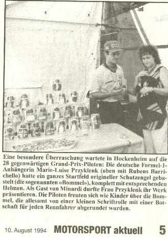 Bericht Motorsport aktuell August 1994