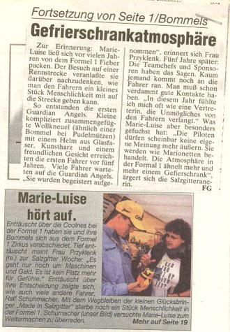 Den letzten Bericht verfasste die Salzigtter Woche im September 1998. Danach verkrümelte sich Bommel in die Vitrine. Bis Oziel kam.