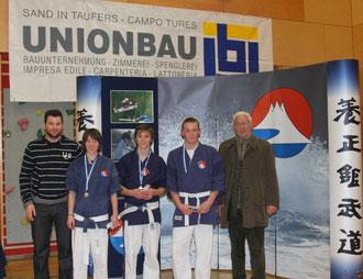 Benno, Sandra, Matthias, Sieger Kevin und Zeno Giacomuzzi