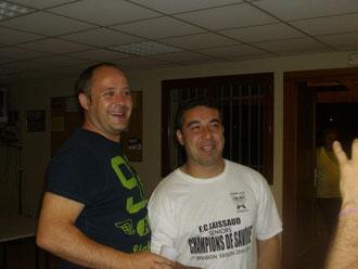 Les coaches Cédric Gauthier et Murat Kat