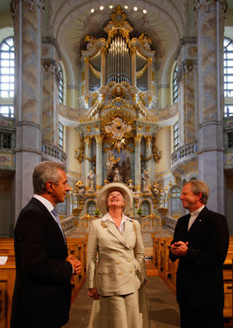 In der Frauenkirche mit Jochen Bohl/  Landesbischof
