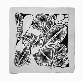 Zentangle Tile by Zenjoy