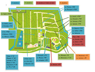 Plan-camping la haie penee-location de mobile home-camping en baie de somme-camping 4 étoiles dans les hauts de france-camping avec étang de peche-camping avec piscine couverte