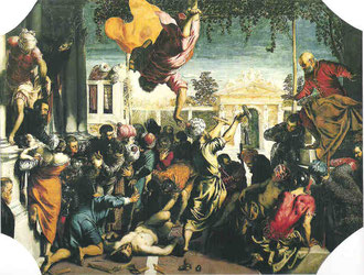"Jacomo Tintoretto,""Sklavenwunder"" 1548, Venedig Accademia"