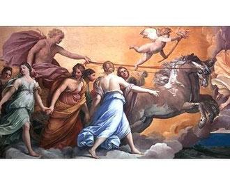 LE DIEU APOLLON guidant le char du Soleil  (Guido Reni)