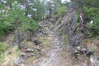 Le vieux chemin de Santa Lucia restauré