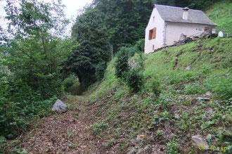 N°25/ Les abords de la Borde de Clutchet - Anirepoque bien dégagés ! Noter que le Chemin rural des Ichantes passe sous la haie de buis.