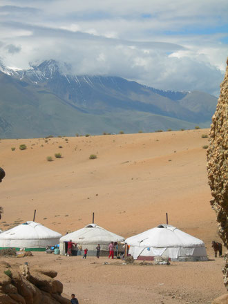 Camp nomade Altai Gobi