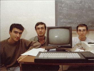 Paco con los compañeros del instituto que serían equipo en Made in Spain.