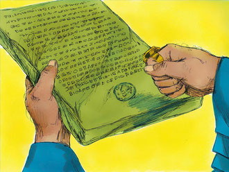 La Bible parle aussi d'un lieu où l'on conservait les archives, à Ecbatane, capitale mède (Iran actuel). Un décret était irrévocable chez les Mèdes et les Perses.